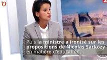 Agacée, Najat Vallaud-Belkacem ironise sur Nicolas Sarkozy
