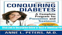 [Get] Conquering Diabetes: A Complete Program for Prevention and Treatment Popular Online