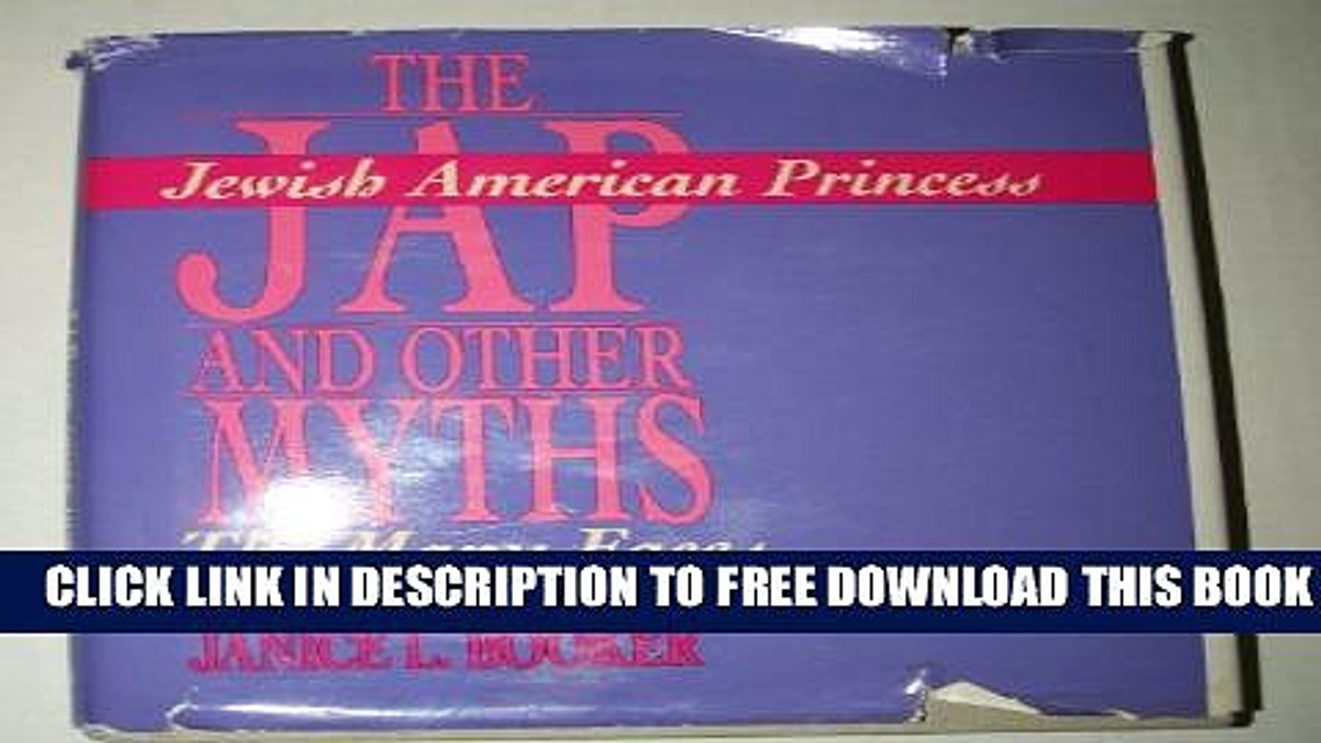 New Book The Jewish American Princess and other Myths: The Many Faces of Self-Hatred