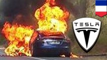 Une Tesla Modèle S prend feu lors d'un test routier en France