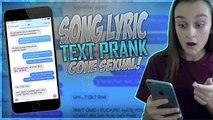 Song Lyric Text PRANK ON MY EX BOYFRIEND GONE SEXUAL (We Dont Talk Anymore)