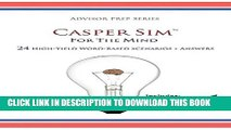 New Book Casper Sim for the Mind: 24 High-Yield Word-Based Scenarios + Answers (Advisor Prep)