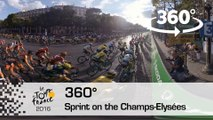 [Video 360°] Sprint final sur les Champs / Final Sprint on the Champs-Elysées - Tour de France 2016