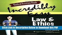 [Read] Medical Assisting Made Incredibly Easy: Law and Ethics Ebook Free