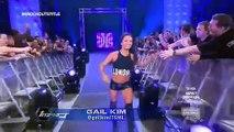 TNA Impact wrestling Taryn Terrell vs Gail Kim vs awesome Kong knockouts title match