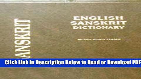 [Get] English Sanskrit Dictionary Popular New