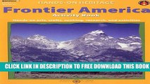 New Book Frontier America Activity Book: Hands-On Arts, Crafts, Cooking, Research, and Activities