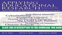 New Book Applying Educational Research: How to Read, Do, and Use Research to Solve Problems of