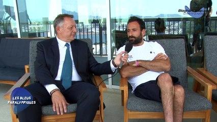 Échange entre Michaël Jérémiasz et M. Thierry Braillard secrétaire d'État chargé des sports - Jeux Paralympiques Rio 2016