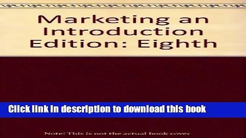 Read Marketing an Introduction  Ebook Free