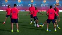 FC Barcelona training session: Neymar Jr returns to training