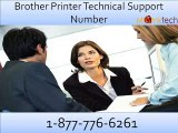 Effective Remedy through Brother Printer technical Support Number 1-877-776-6261