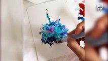 Cet artiste utilise des gouttes d'eau et de la peinture afin de créer des œuvres délirantes !