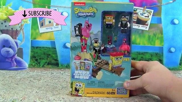 Spongebob Squarepants Mega Bloks TOYS! Pirate Figure Pack with Spongebob, Patrick, Mr  Krabs, Plankt