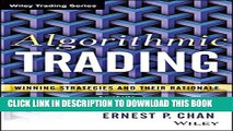 Ernie Chan Algorithmic Trading Pdf