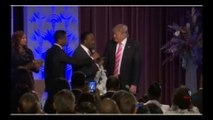 Reuters cuts feed just as Donald Trump is being blessed by Bishop Jackson