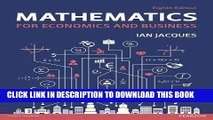 [PDF] Mathematics for Economics and Business (8th Edition) Popular Colection