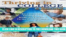 Collection Book Thriving in College and Beyond: Research-Based Strategies for Academic Success and