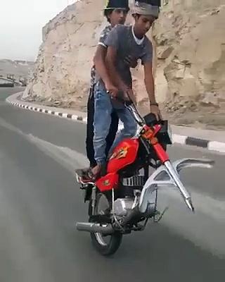 Single Wheel Bike Riding
