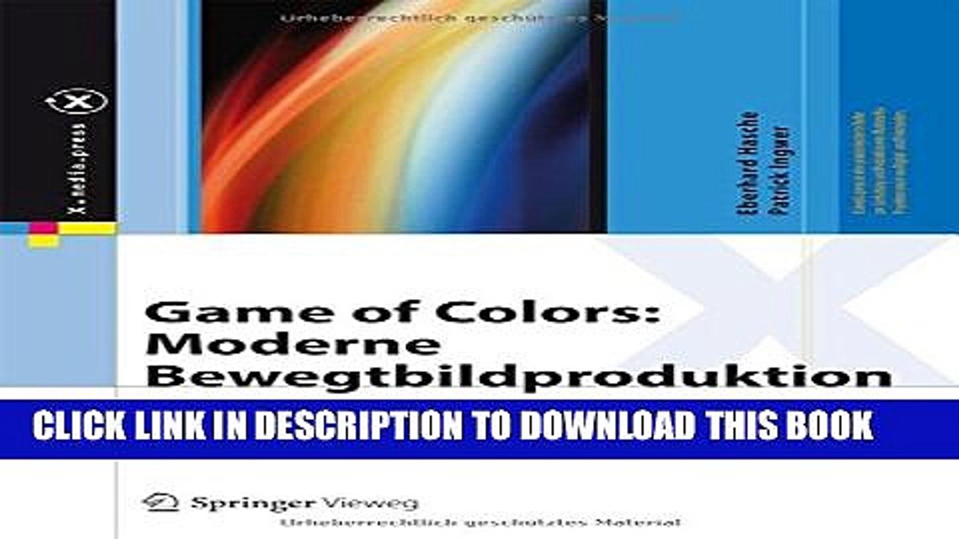 [PDF] Game of Colors: Moderne Bewegtbildproduktion: Theorie und Praxis für  Film, Video und