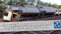Espagne: Plusieurs morts dans le déraillement d'un train en Galice