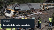 Accident de train meurtrier en Espagne