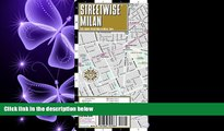 complete  Streetwise Milan Map - Laminated City Center Street Map of Milan, Italy - Folding pocket