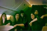 Kala Chashma Dance In Flight - Katrina Kaif , Alia Bhatt, Parineeti Chopra , Sidharth Malhotra