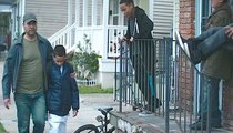 Dad Walks Past The Gang That's Been Bullying His Son. But Watch What's Under His Coat…