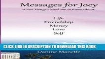 [PDF] Messages for Joey: A Few Things I Need You to Know Popular Colection