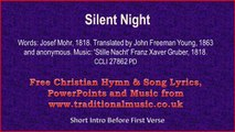 Silent Night - Christmas Carols Lyrics & Music(v2)