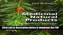 [Read] Medicinal Natural Products: A Biosynthetic Approach Ebook Free