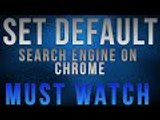 How To Set Default Search Engine On Chrome Browser - Urdu/Hindi