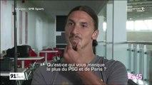 Voila ce qui manque le plus à Zlatan depuis qu'il a quitté le PSG