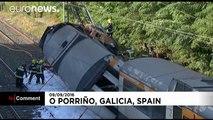 Spain: Four dead after train derails