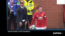 Manchester United - Manchester City : Accrochage viril entre Pep Guardiola et Wayne Rooney (Vidéo)
