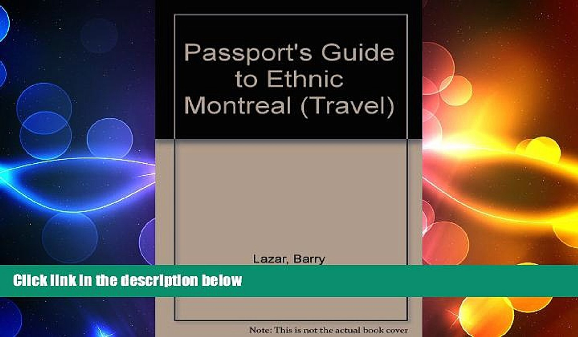 Free [PDF] Downlaod  Passport s Guide to Ethnic Montreal: A Complete Guide to the Many Faces