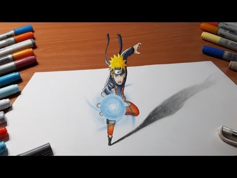 Dessiner Naruto Rasengan In 3d