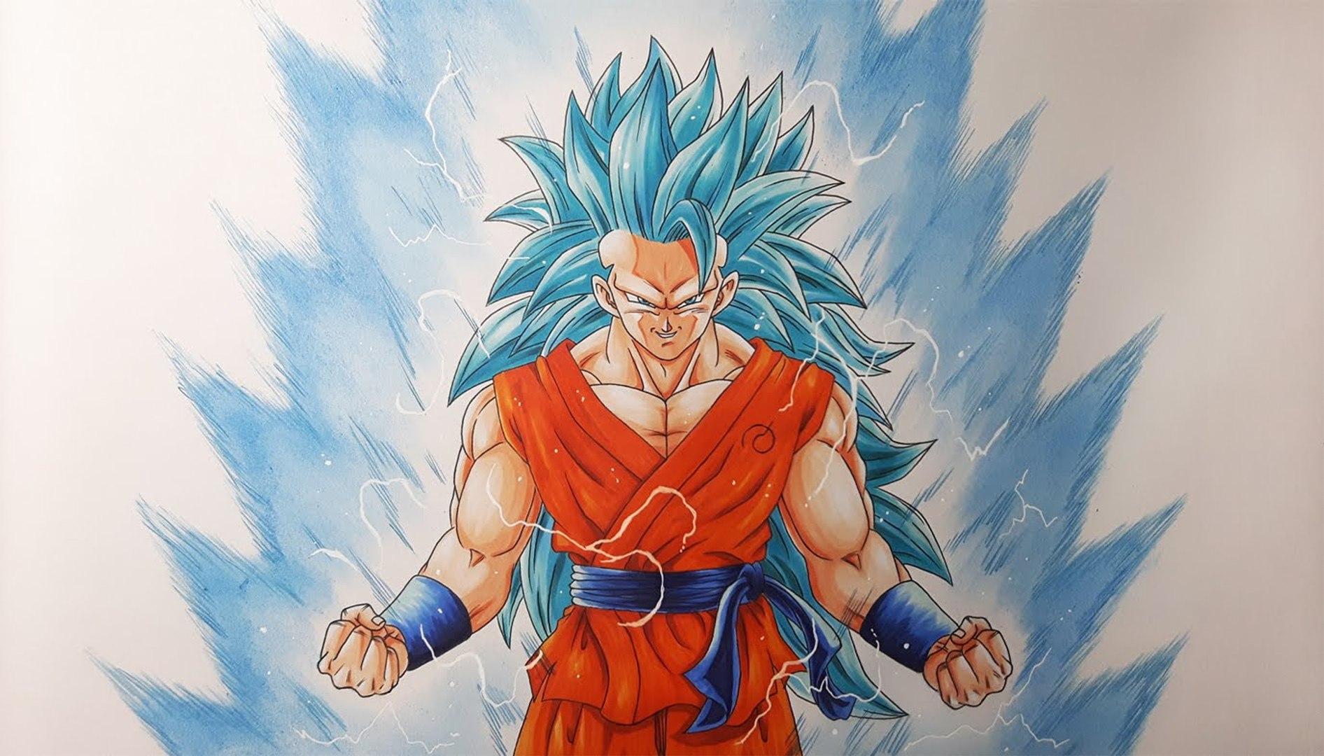 Dessiner Goku Super Saiyan Blue 3 Video Dailymotion