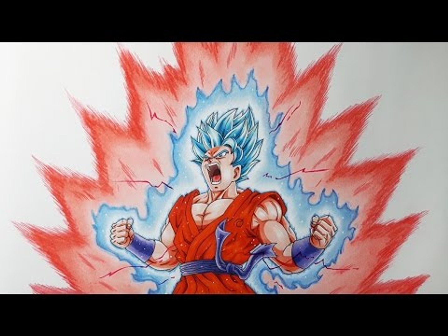 Dessiner Goku Super Saiyan Blue Kaioken X10 Video Dailymotion