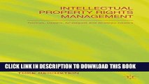 [PDF] Intellectual Property Rights Management: Rookies, Dealers and Strategists Popular Online