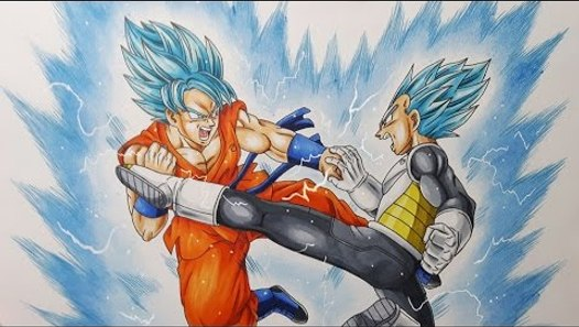 Dessiner Goku Vs Vegeta Super Saiyans Blue Vidéo Dailymotion