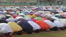 Watch- People Celebrate Eid Al-Adha With Special Namaaz In Thiruvananthapuram