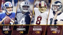 The Giants are favorites, but the Redskins should repeat as NFC East champs