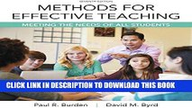 New Book Methods for Effective Teaching: Meeting the Needs of All Students, Enhanced Pearson eText