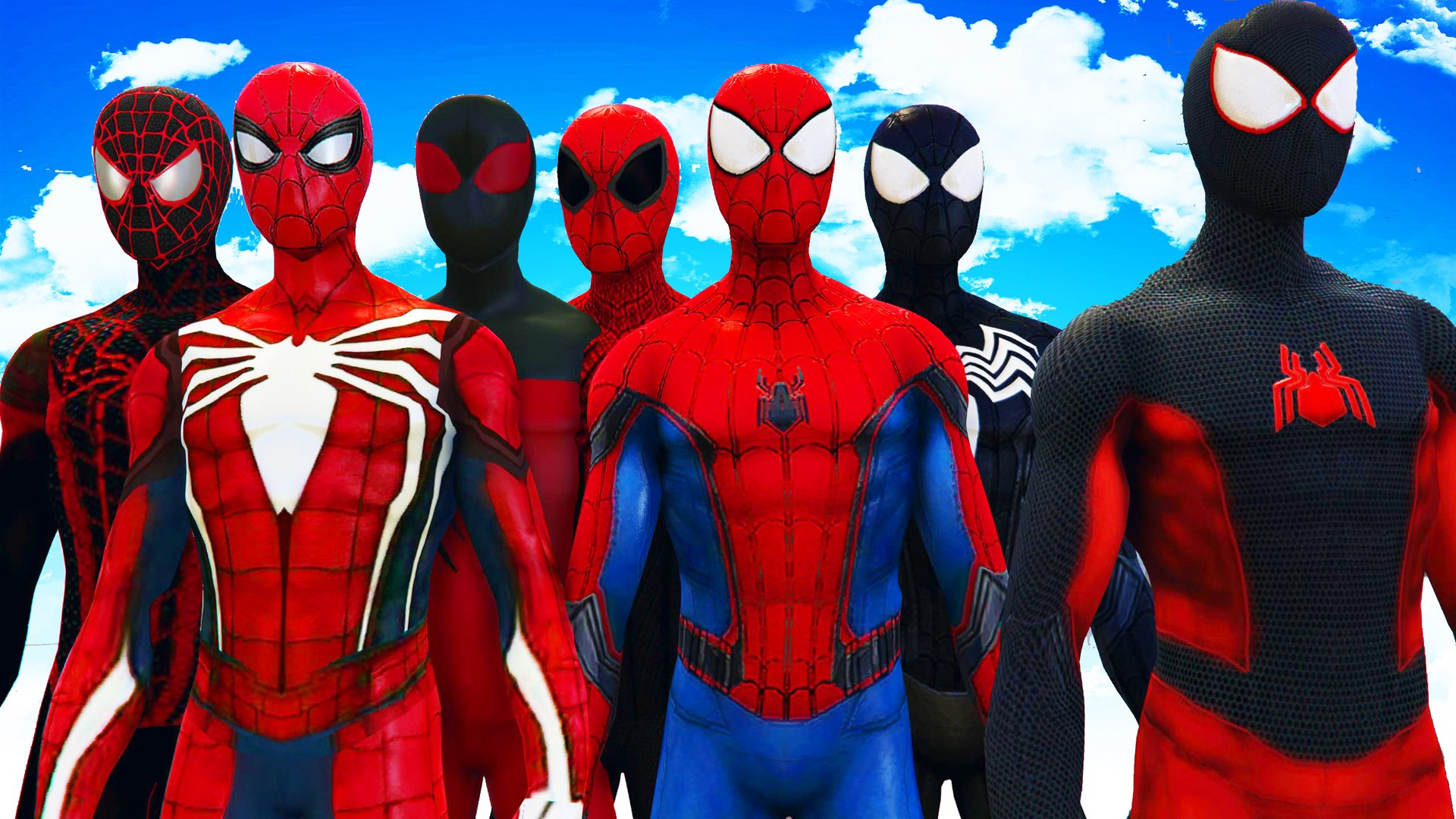 All Spiderman Suits Amazing Spider Man Symbiote Spiderman