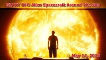Bizarre! V shaped UFO & Rods Near Sun & Venus, May 14, 2016