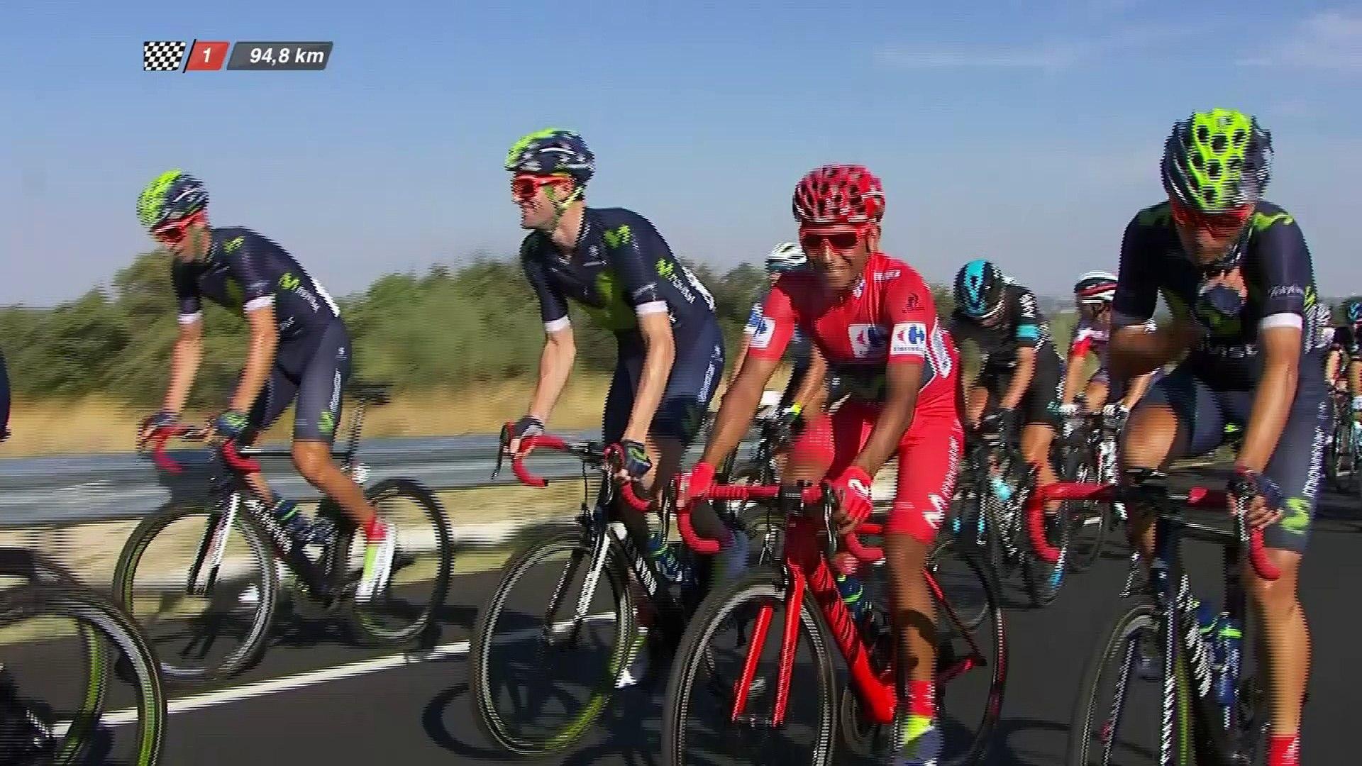 Nairo celebra su victoria / Quintana is smiling in front of the pack - Etapa / Stage 21 (Las Rozas /