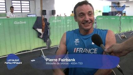 Pierre Fairbank - Médaille de Bronze 400m T53 - Jeux Paralympiques Rio 2016