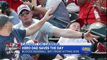 Hero Dad Saves Son s Head From Flying Baseball Bat